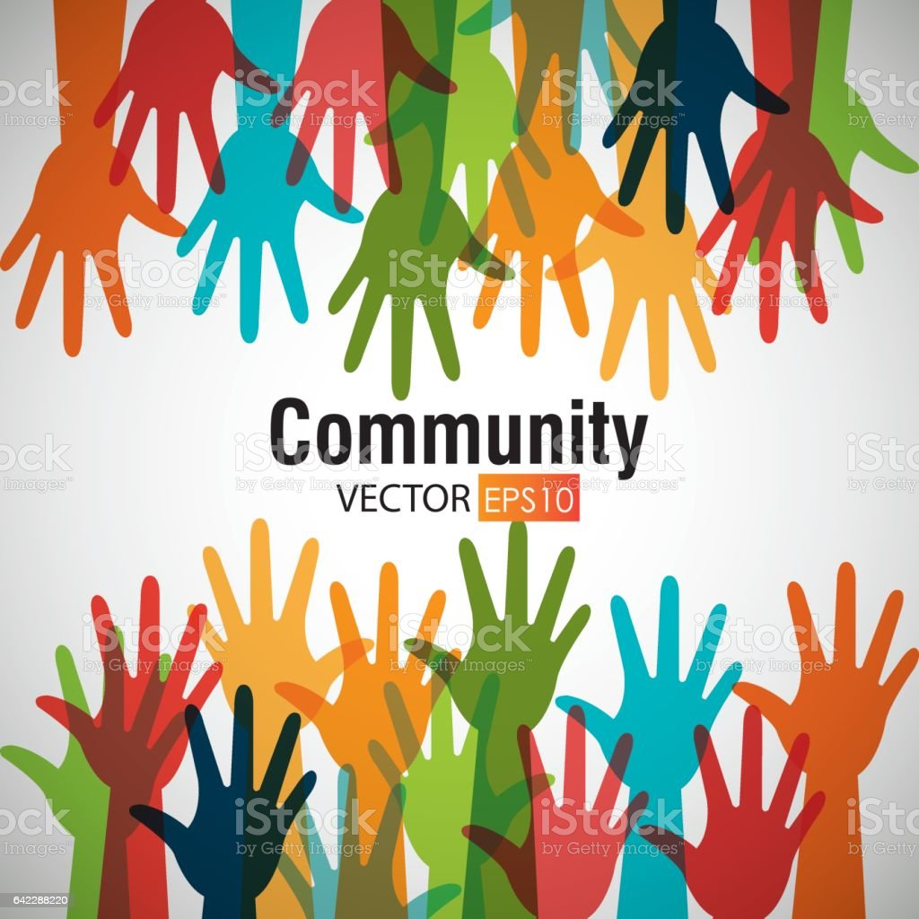 Community and people graphic vector art illustration