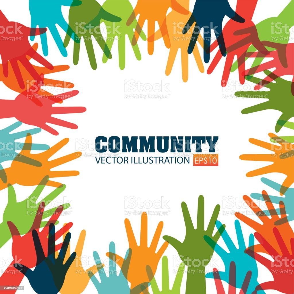 Community and social vector art illustration