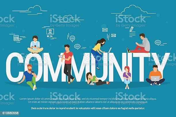 Community concept illustration vector id610680558?b=1&k=6&m=610680558&s=612x612&h=h8aowrewo 28ormz1tlzni pcvk ee3r8zt4jnh0xrw=