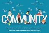 Community concept illustration