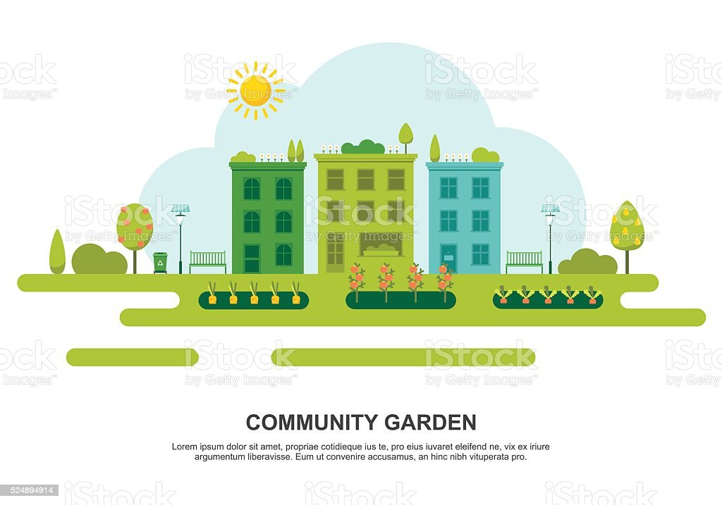 Community Garden Royalty Free Community Garden Stock Vector Art U0026amp; More  Images Of Agriculture