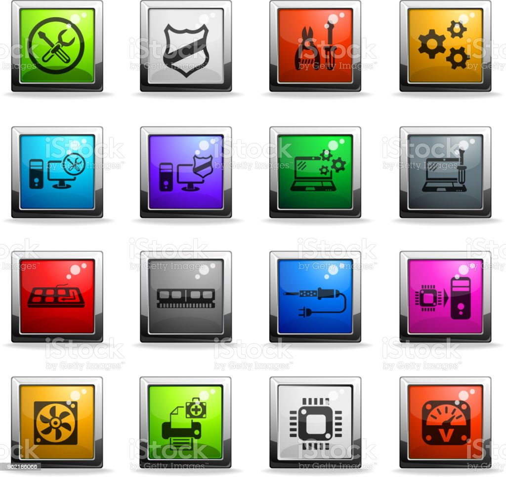 community icon set vector art illustration