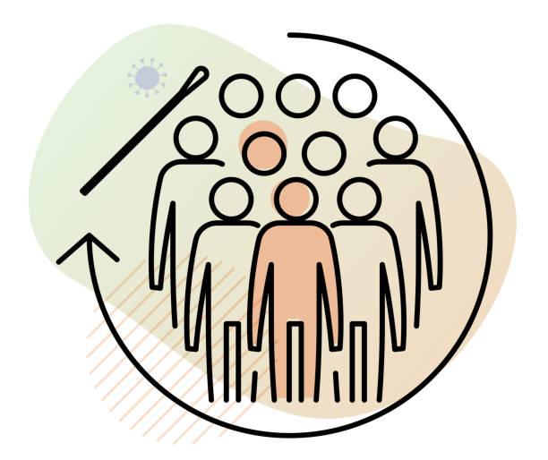 Community Level Nasal Swab - Nasopharyngeal Swab Testing and Sample collection  - Icon Community Level Nasal Swab - Nasopharyngeal Swab Testing and Sample collection  - Icon as eps 10 File. nasal swab stock illustrations
