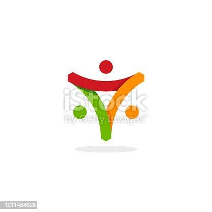istock community logo template designs vector illustration, Caring logo template designs 1211484628