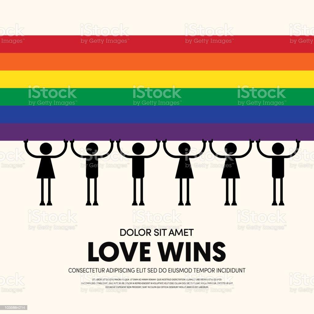 Fondo de plantilla LGBT comunidad cartel diseño - ilustración de arte vectorial