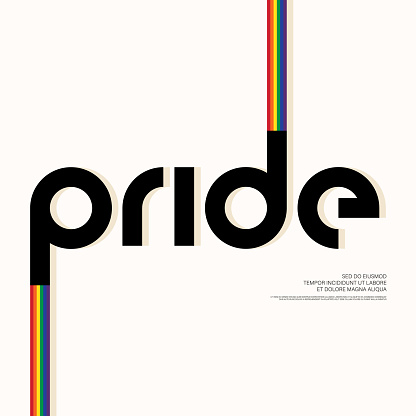 LGBT community poster layout design template background