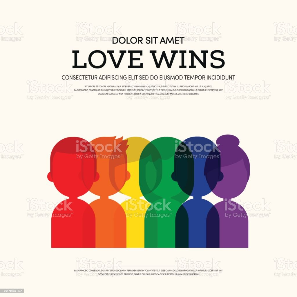 LGBT community poster template background vector art illustration
