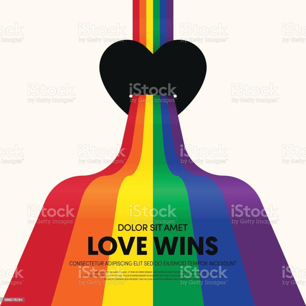 Fondo de plantilla LGBT comunidad cartel - ilustración de arte vectorial