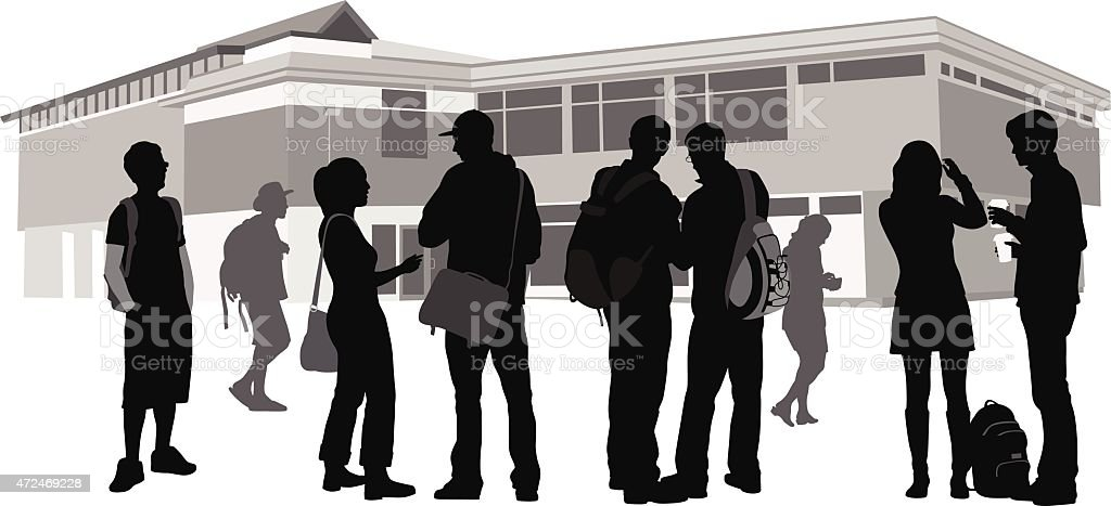 Community Strenght vector art illustration