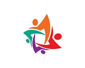 Community Symbol Template Design Vector, Emblem, Design Concept, Creative Symbol, Icon