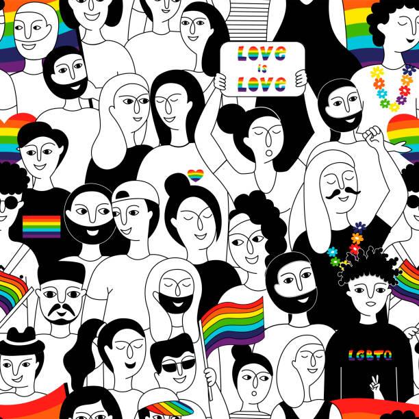 ilustrações, clipart, desenhos animados e ícones de comunidade lgbt. - lgbt