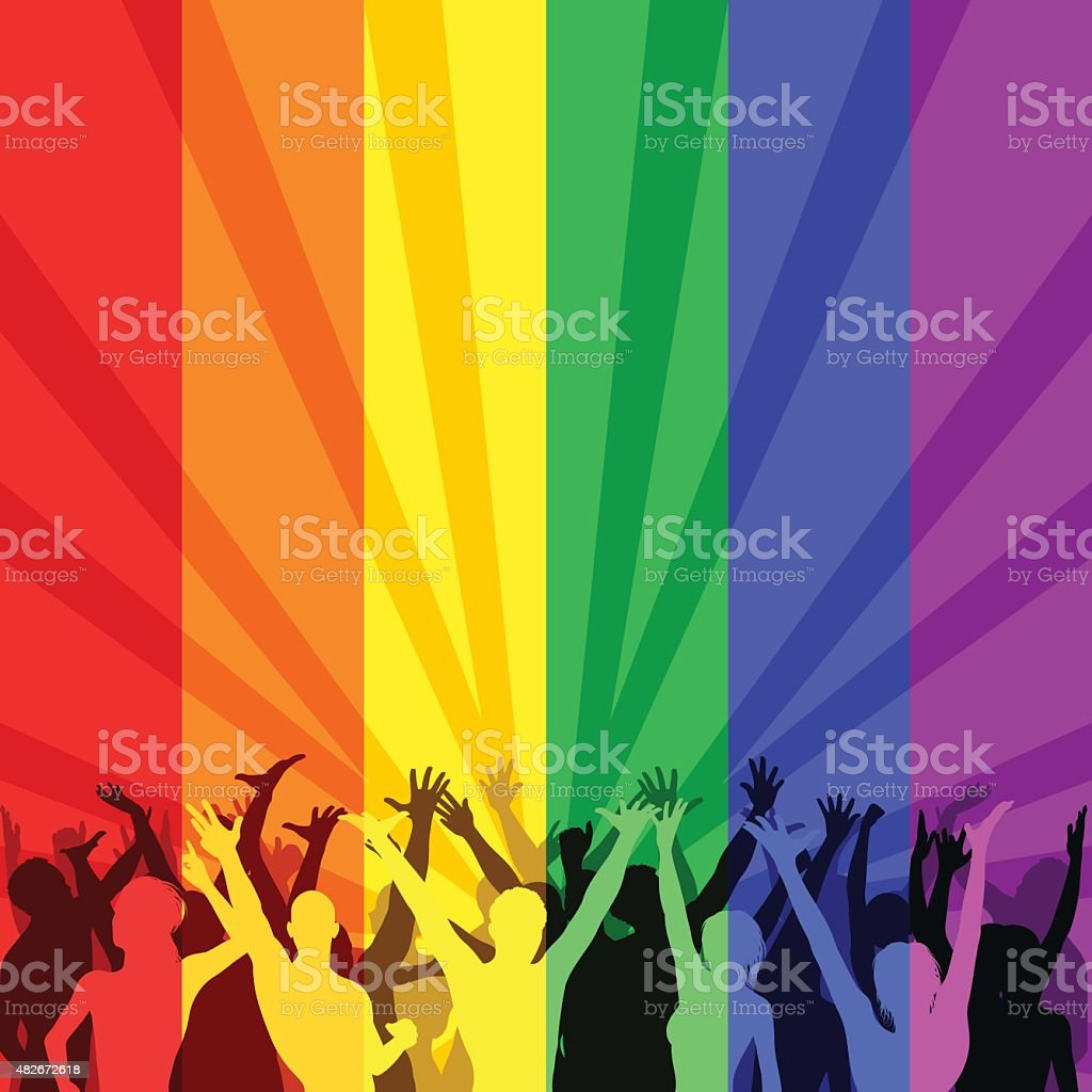 LGBT Community vector art illustration