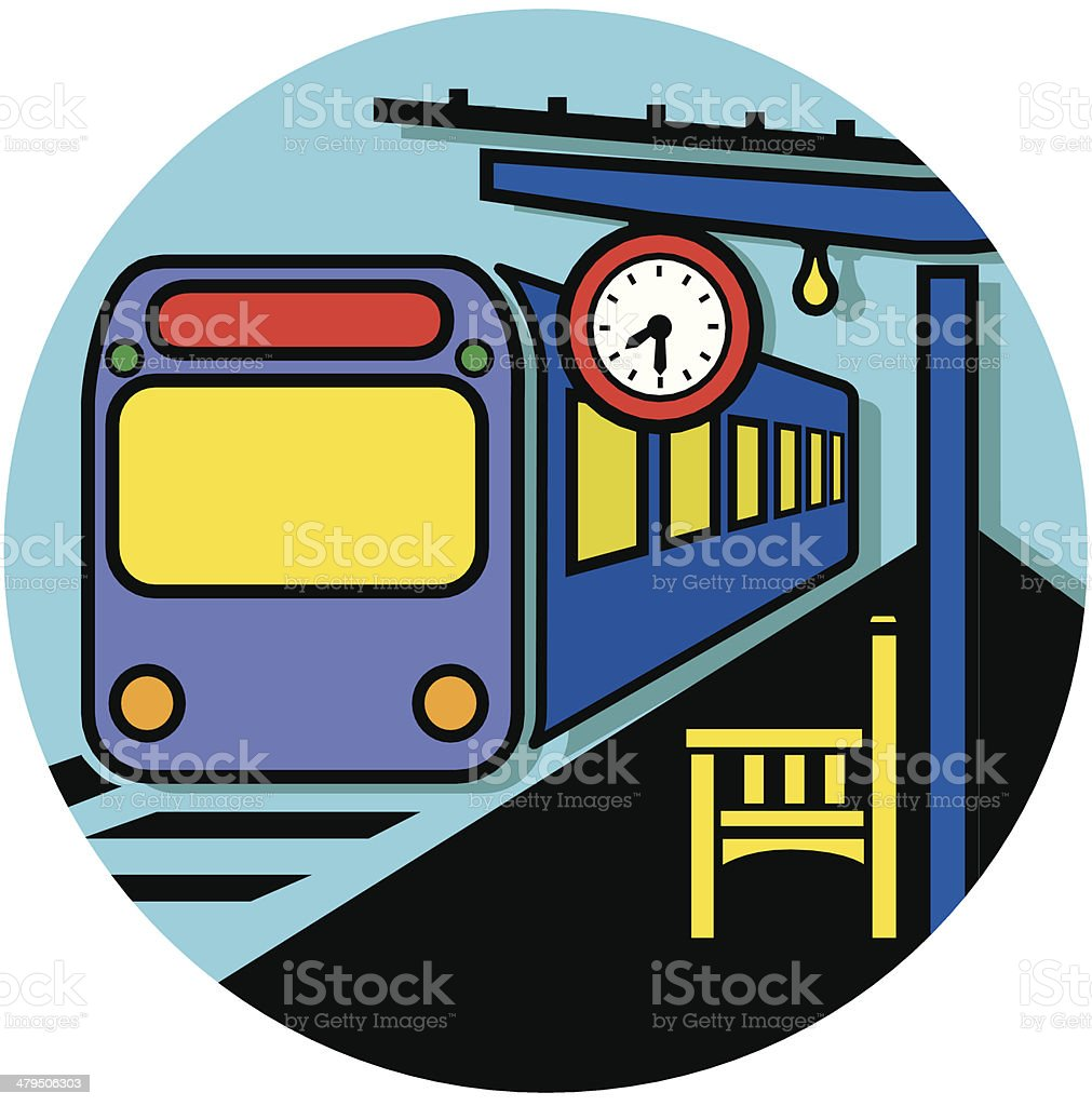 commuter train royalty-free stock vector art
