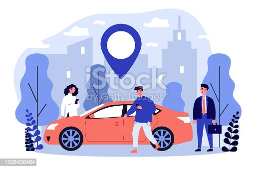istock Commuters sharing car in city 1208406464