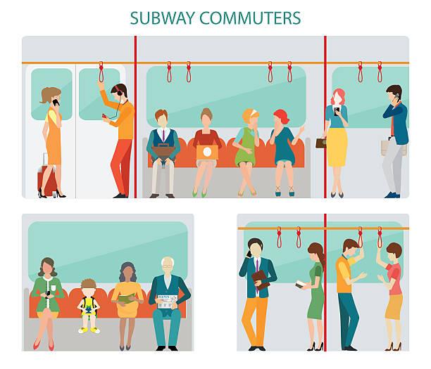 地下鉄の通勤者のデザインです。 - 通勤点のイラスト素材/クリップアート素材/マンガ素材/アイコン素材