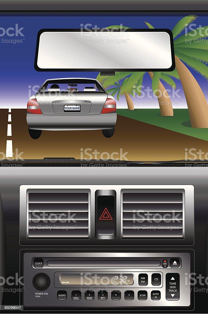 Commuting vector art illustration