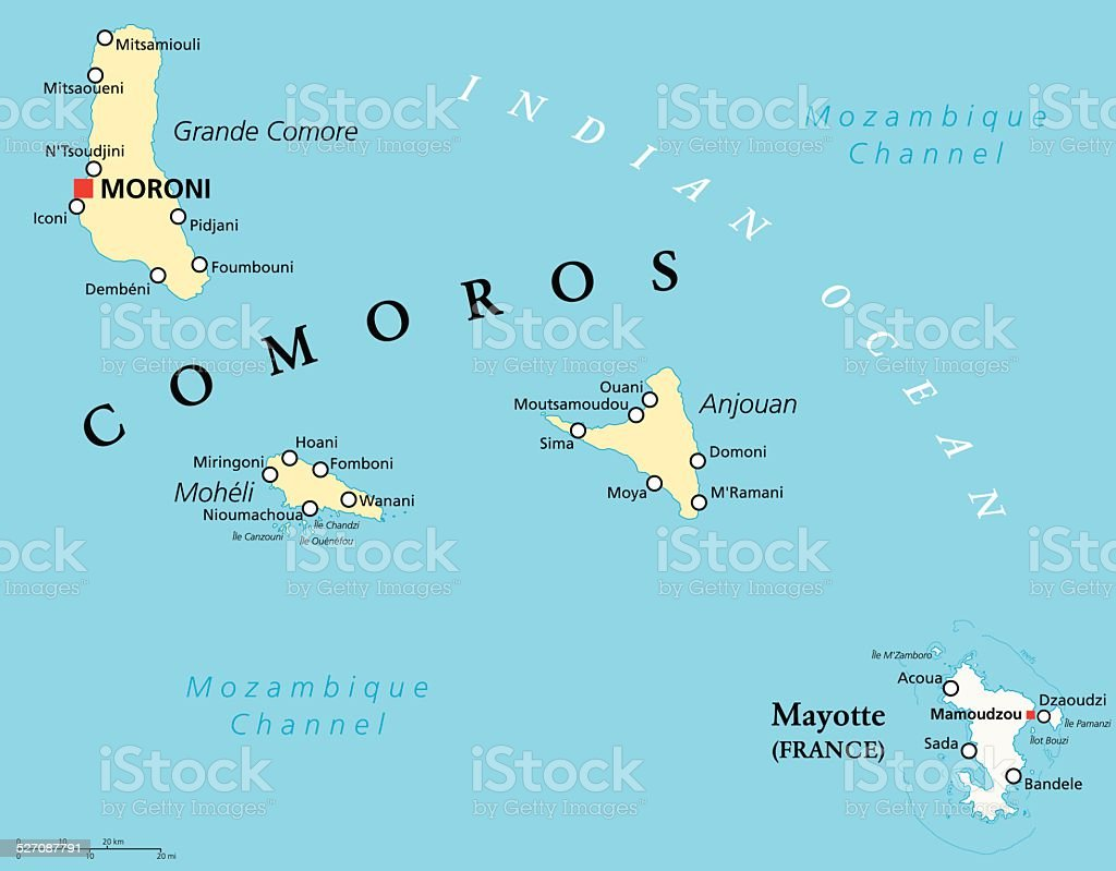 comoros and mayotte political map royalty free comoros and mayotte political map stock vector art