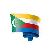 Comoros national flag, vector illustration on a white background