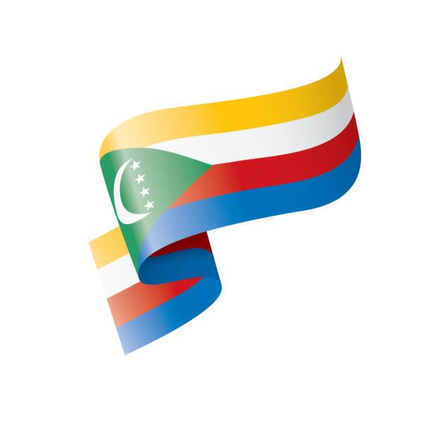 Comoros flag, vector illustration on a white background vector art illustration