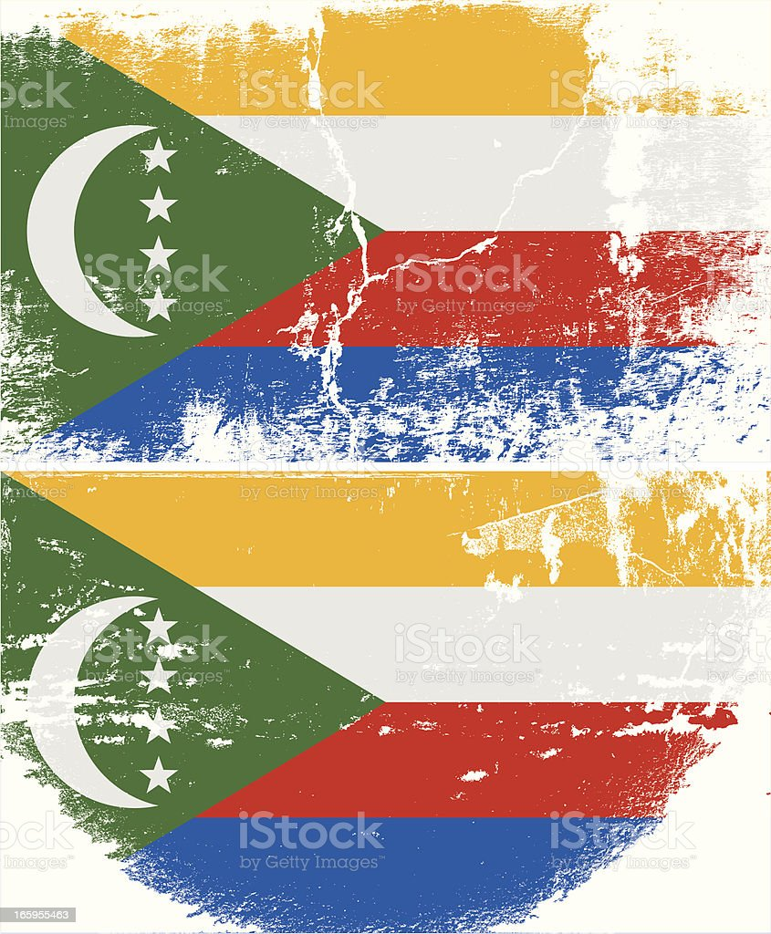 Comoros Grunge flag royalty-free comoros grunge flag stock vector art & more images of abstract