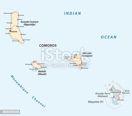 comoros map stock vector art more images of africa 888069558 istock