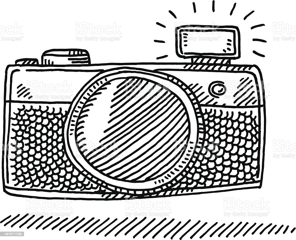 Compact Camera Flash Drawing Stock Illustration Download Image Now Istock