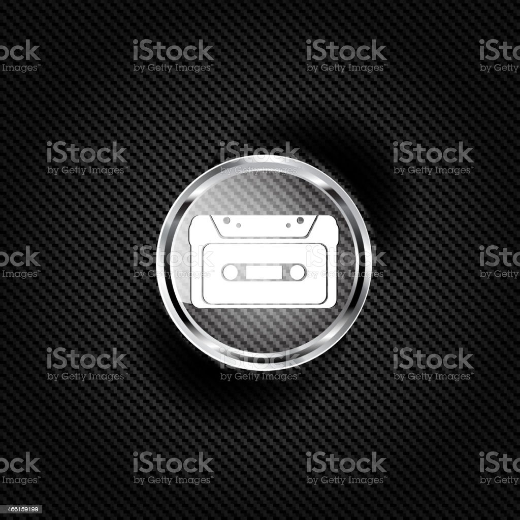 Compact Cassette icon, flat design, hipster style vector art illustration