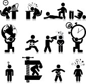 Vectored stressed people. This format can be blown up to any size without loss of quality.