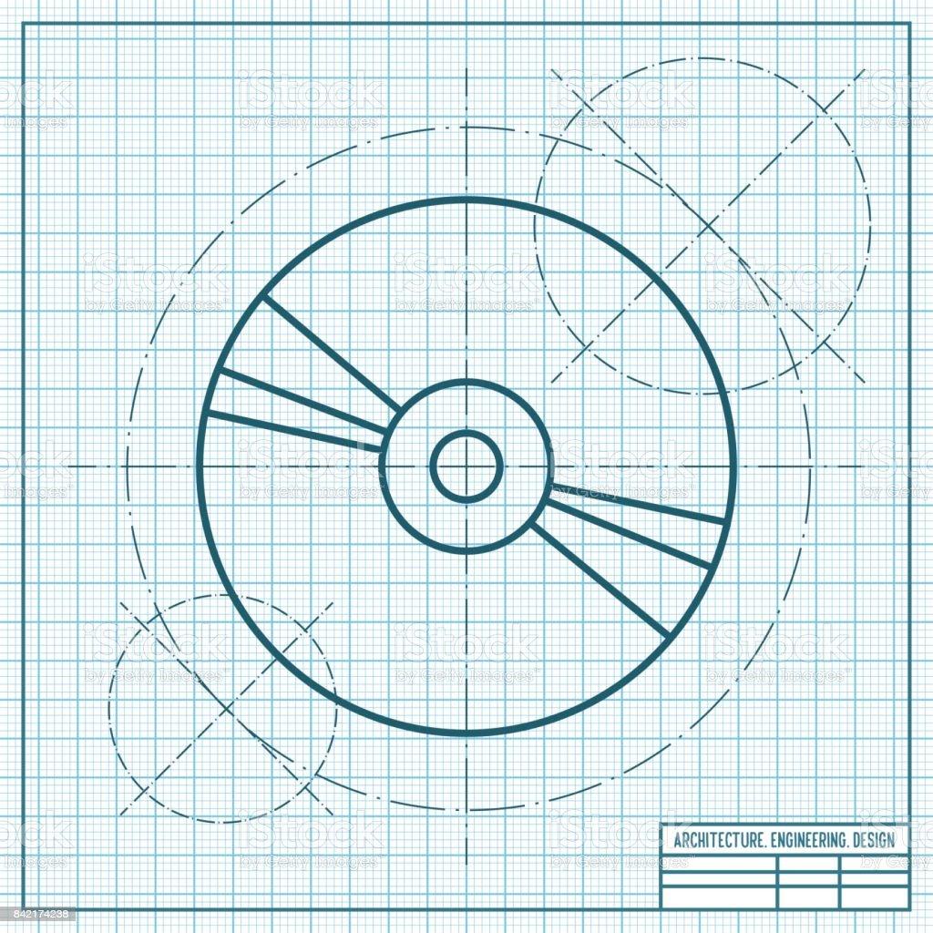 Compact disc icon vector art illustration