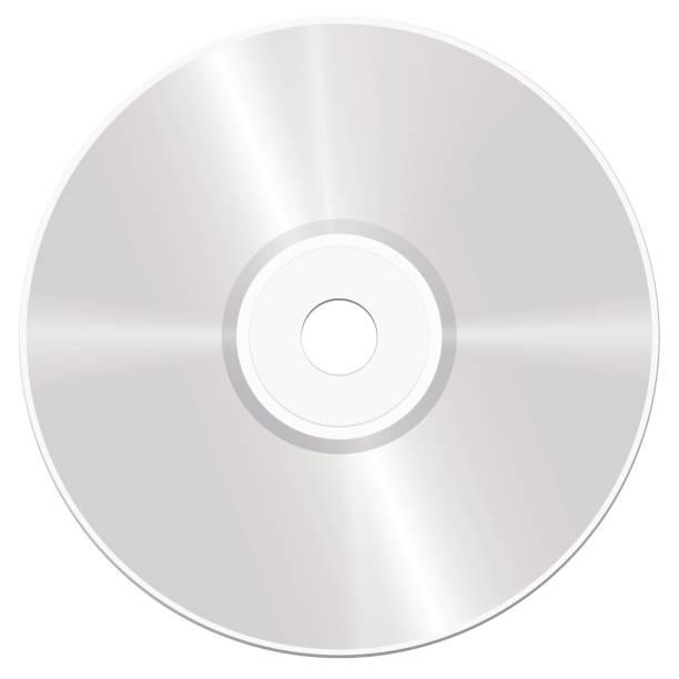 CD - CD - realistische isoliert Vektor-Illustration auf weißem Hintergrund. – Vektorgrafik