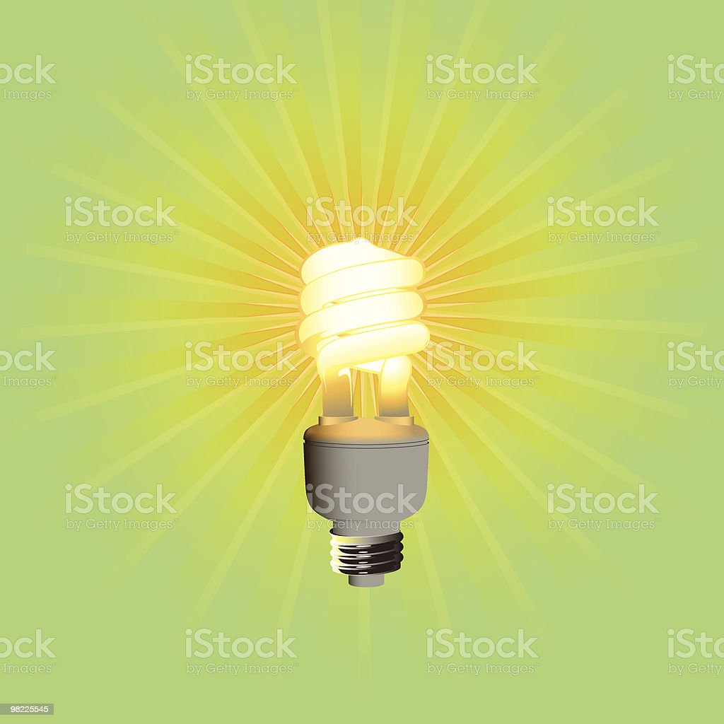 Compact Fluorescent Bulb royalty-free compact fluorescent bulb stock vector art & more images of clip art