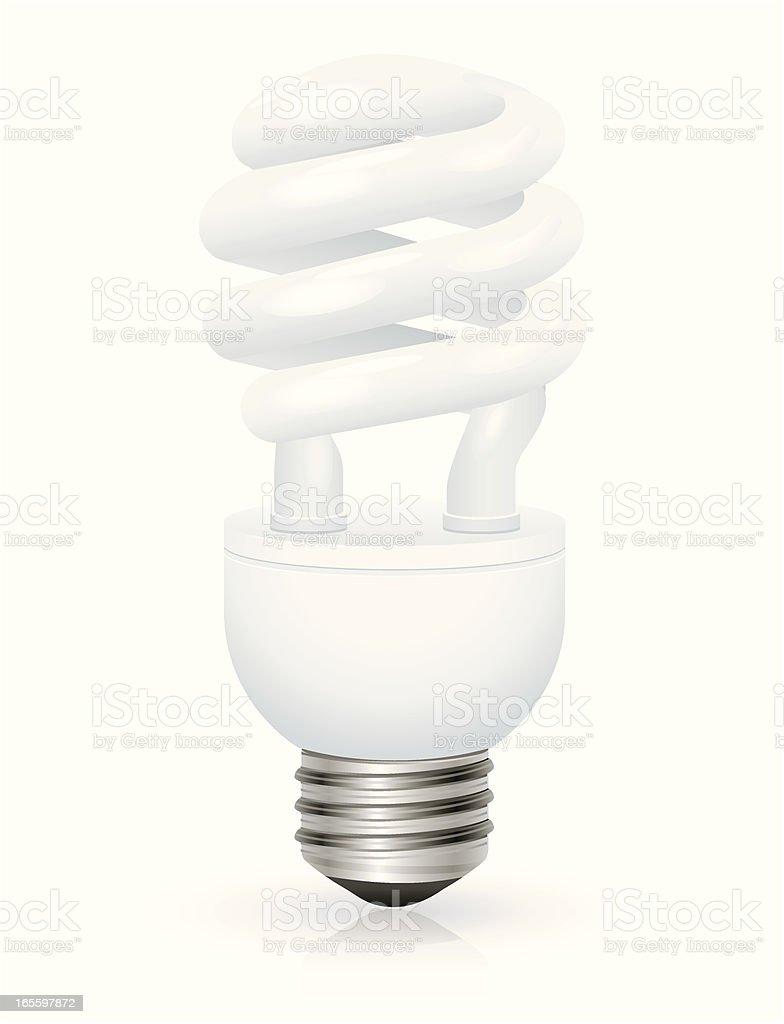 Compact Fluorescent Light Bulb Standing Vertically royalty-free compact fluorescent light bulb standing vertically stock vector art & more images of alternative energy