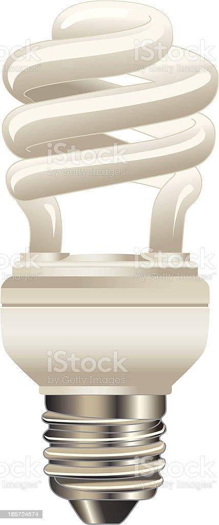 Compact Fluorescent Light Bulb royalty-free stock vector art