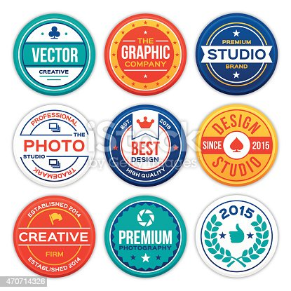 istock Company and Business Badges 470714326