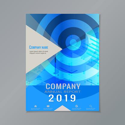 Company annual report cover design template