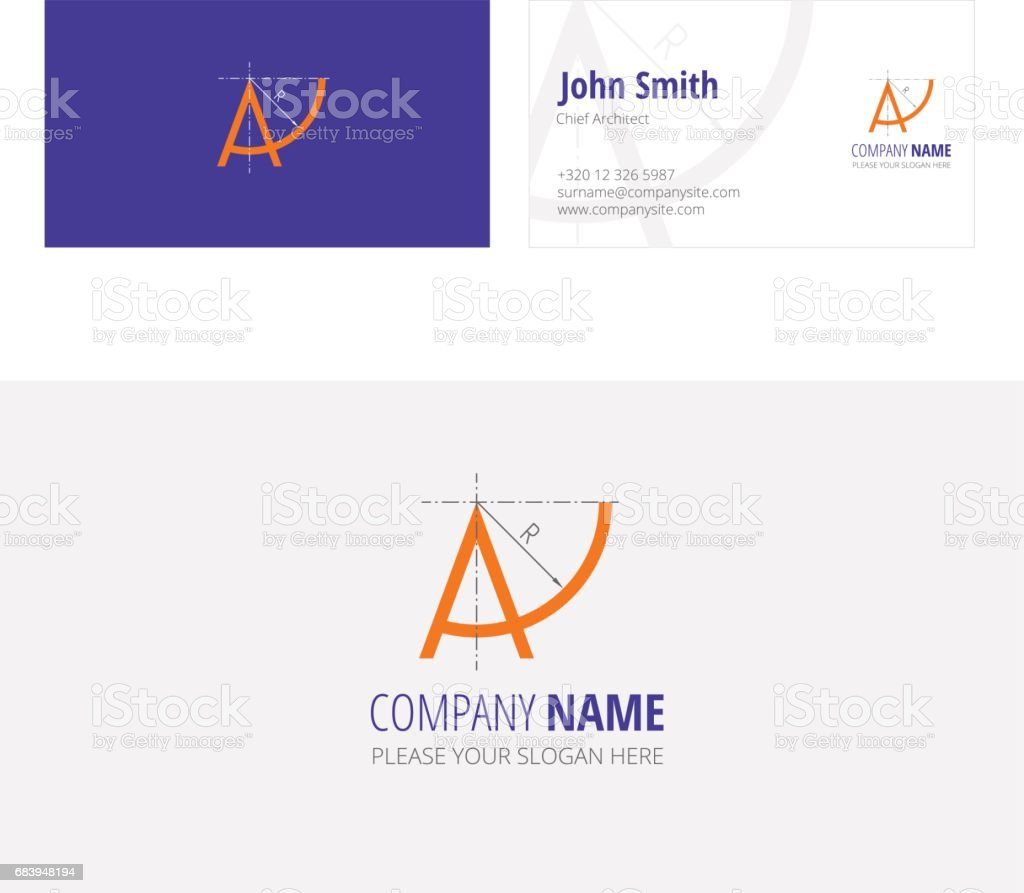 A company architecture construction  corporate business card royalty-free a company architecture construction corporate business card stock vector art & more images of alphabet