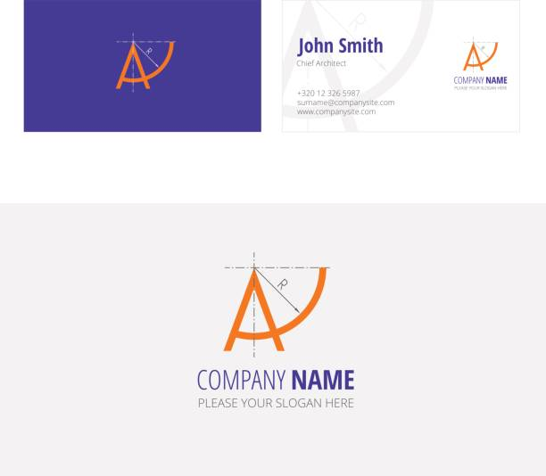 A company architecture construction  corporate business card vector art illustration