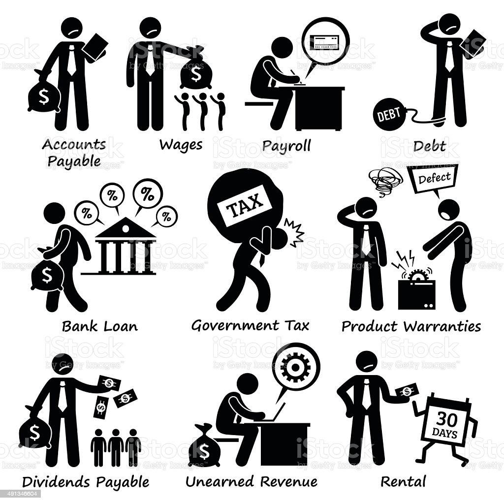 Company Business Liability Pictogram vector art illustration