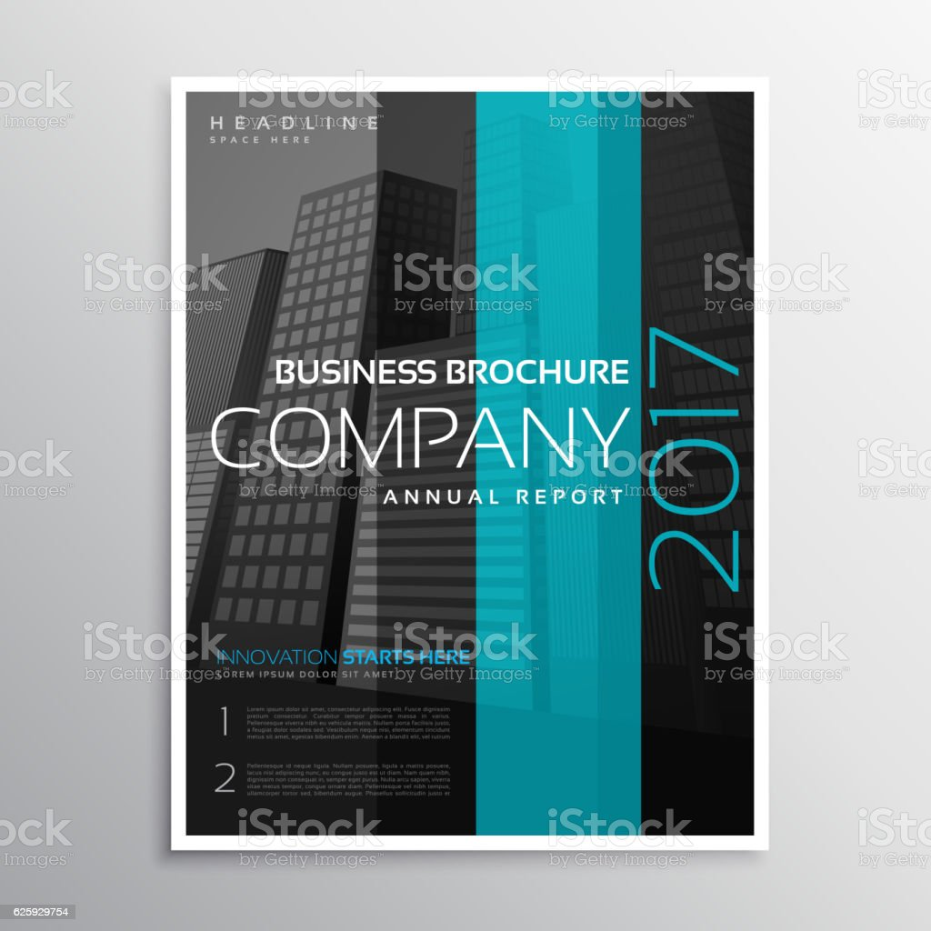 company business magazine cover template of annual report のイラスト