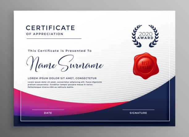 company certificate template elegant design company certificate template elegant design certificates and diplomas stock illustrations