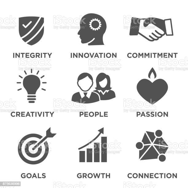 Company core values solid icons for websites or infographics vector id875636996?b=1&k=6&m=875636996&s=612x612&h=epwvzm52puuwhxjrer9in2xnpceqonmyfn2bvlncrss=