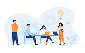 istock Company employees planning task and brainstorming 1250005831