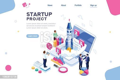 istock Company Homepage Template 1060813726