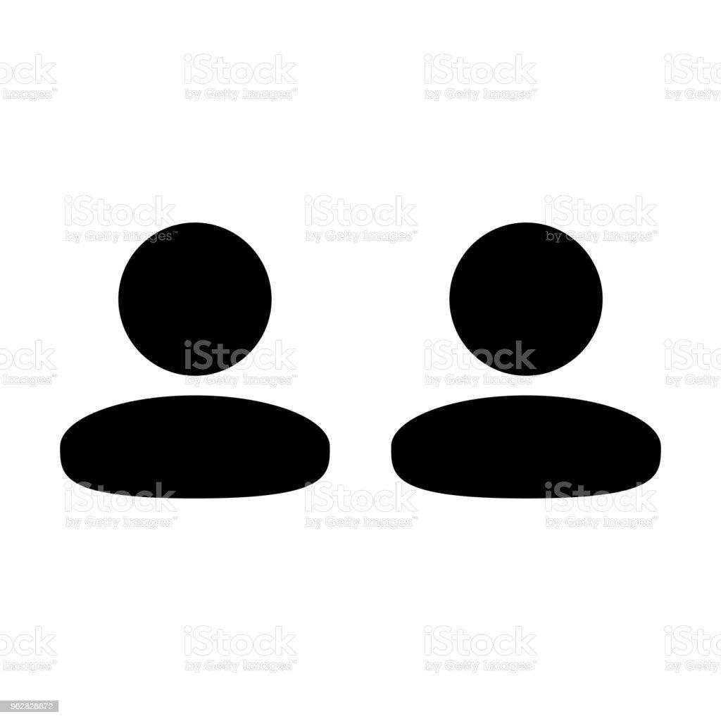 Grupo masculino de empresa ícone vector de avatar de símbolo de pessoas para gestão de equipes de negócios em ilustração de pictograma de glifo de cor lisa - Vetor de Administrador royalty-free