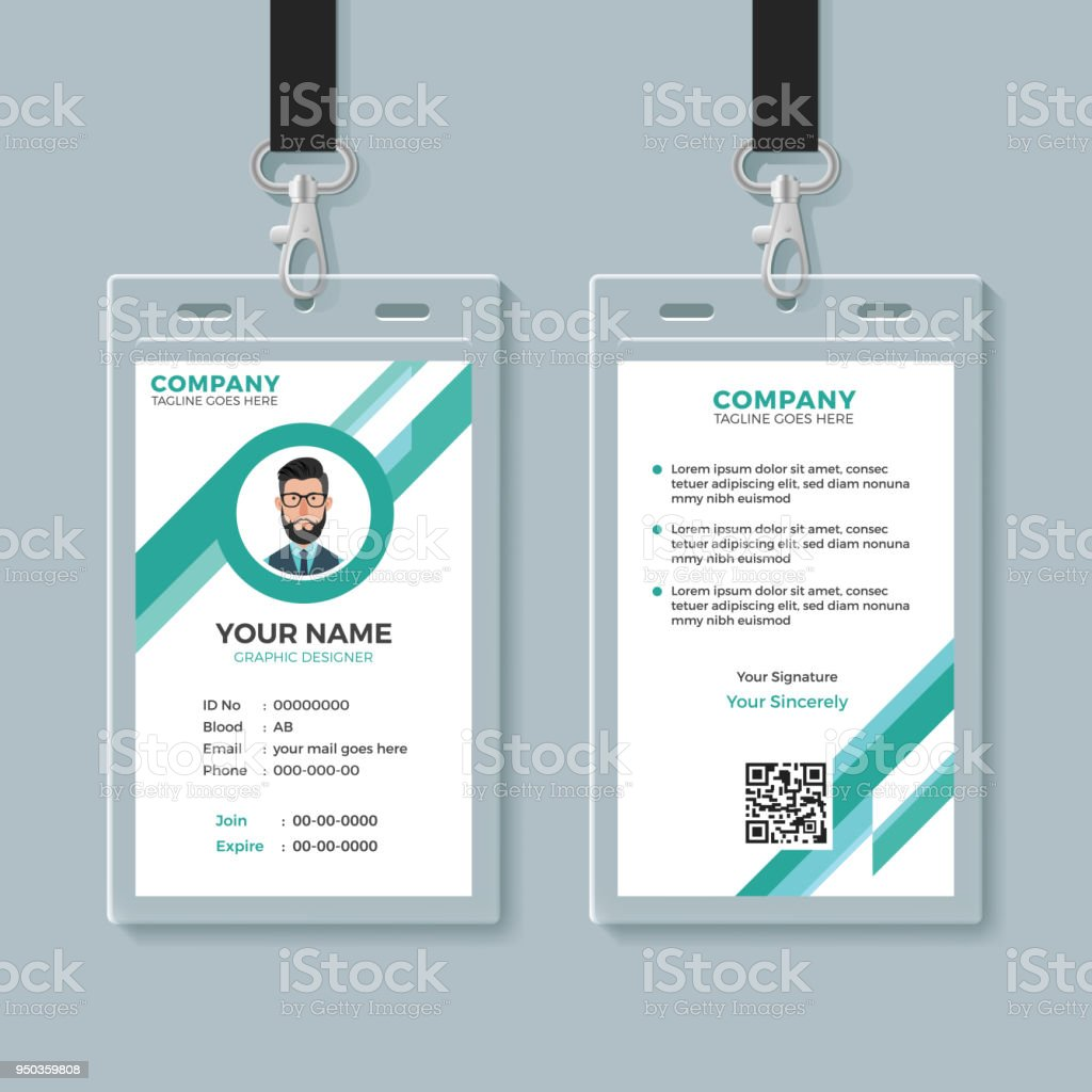 Company Identity Card Design Template Royalty Free Stock Vector Art