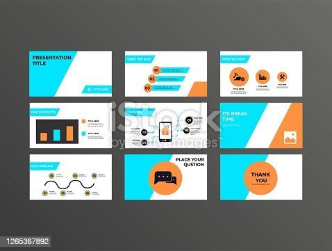 istock Company, Investment Presentation, Pitch Deck Template Design With Minimal Styling 1265367892