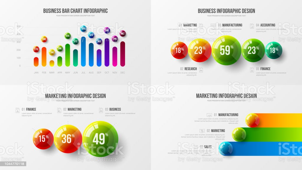 Company marketing analytics presentation vector illustration template bundle. vector art illustration