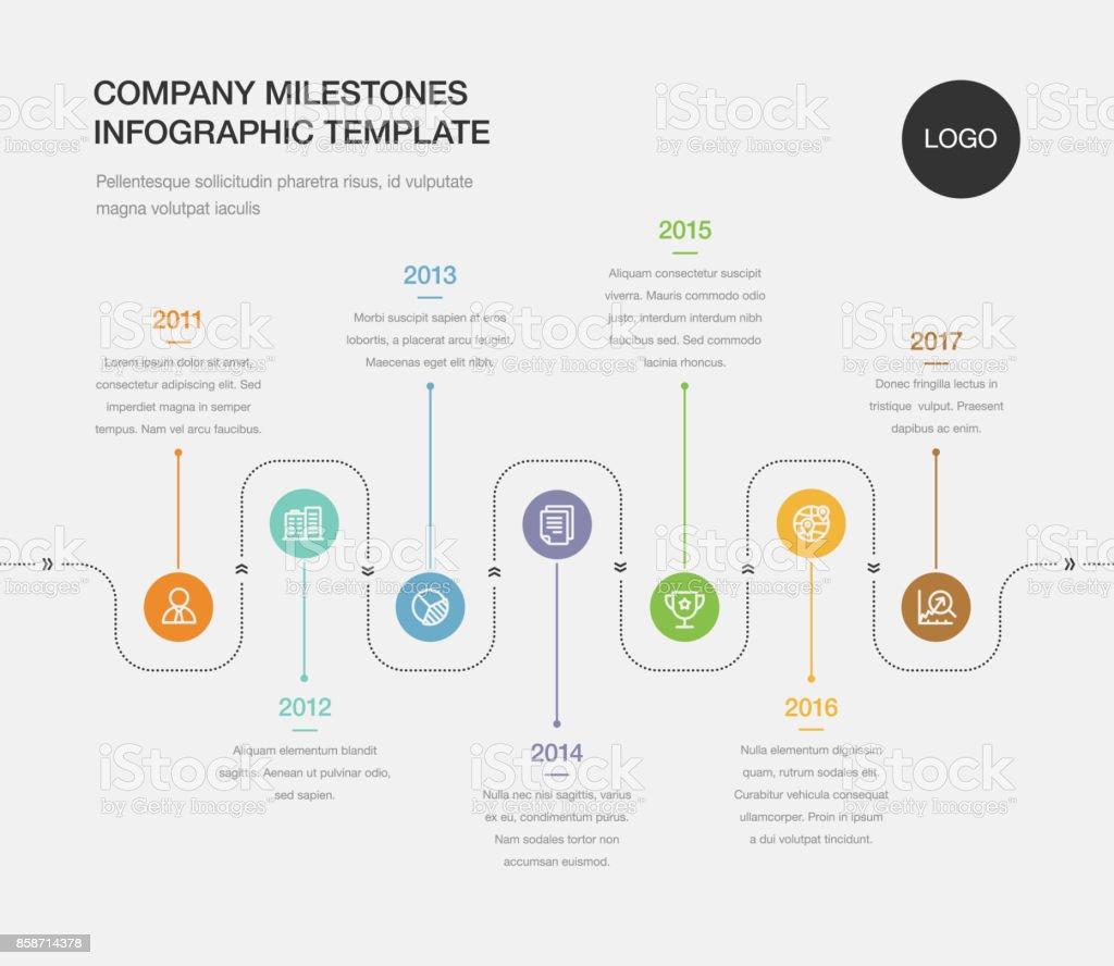 Company Milestones Timeline Template Stock Vector Art ...