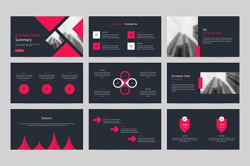 Business corporate slides, company brochure presentations