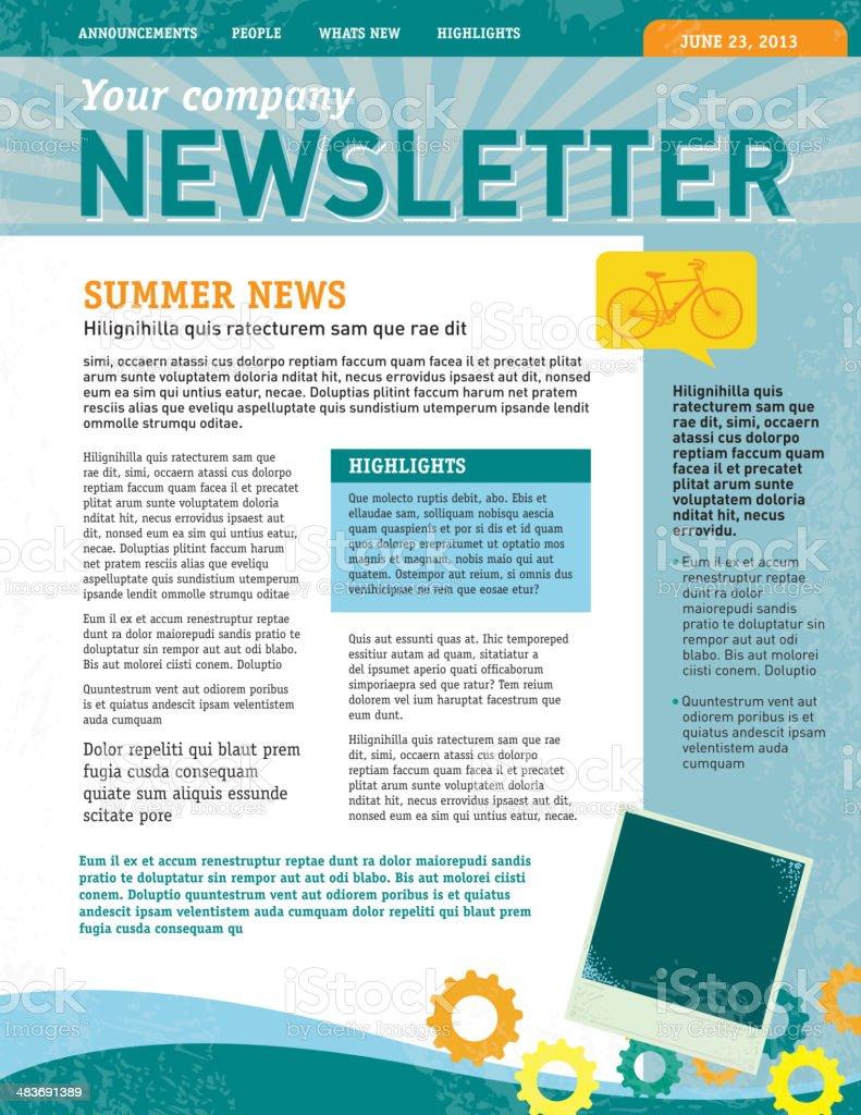 Company newsletter design template vector art illustration
